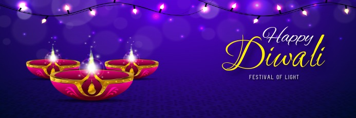 diwali poster Banner 2' × 6' template