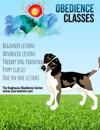 Copy of dog training obedience classes flyer