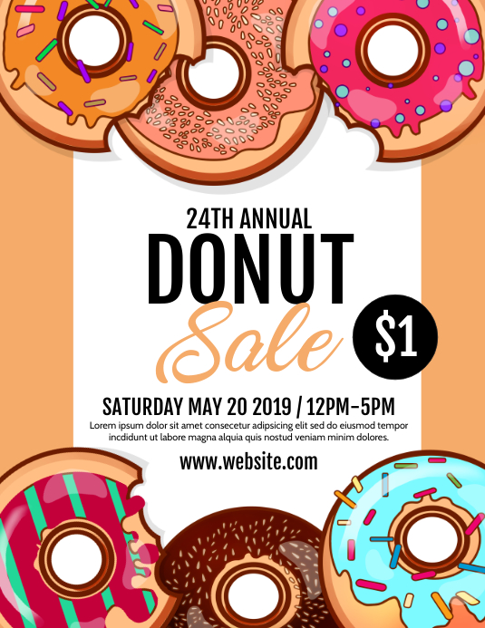 Donut Sale Flyer (Letter pang-US) template