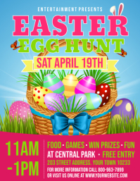 EASTER EGG HUNT Flyer (US Letter) template