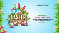 Easter Flyer Template Design Message Twitter