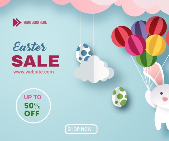 Easter Sale Grote rechthoek template