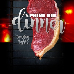 Editable Prime Rib Dinner instagram template