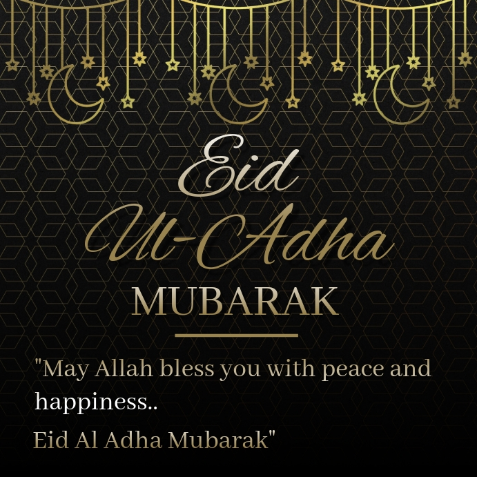 Eid Al Adha Mubarak Square (1:1) template