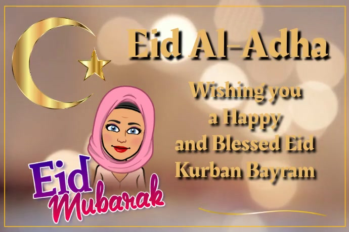 Eid Al-adha Video Poster template