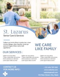 elder care retirement house flyer adv Volante (Carta US) template