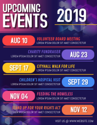 Event calendar Volante (Carta US) template