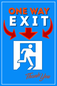 Exit Here Poster โปสเตอร์ template