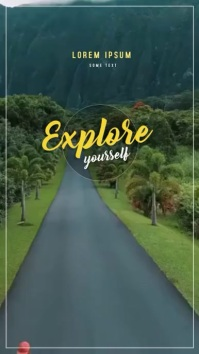 Explore Yourself - Holidays Instagram-Story template