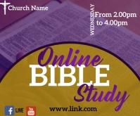 facebook bible study Rectangle moyen template