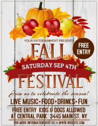Fall Fest Flyer (US Letter) template