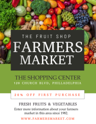 farmers market Flyer (US Letter) template