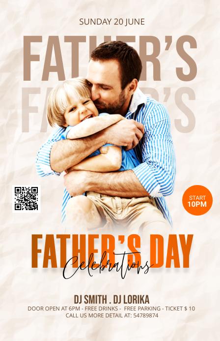 Father's Day Celebration Template Halbe Seite breit