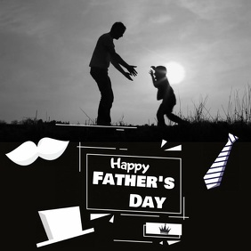 FATHER'S DAY VIDEO Square (1:1) template