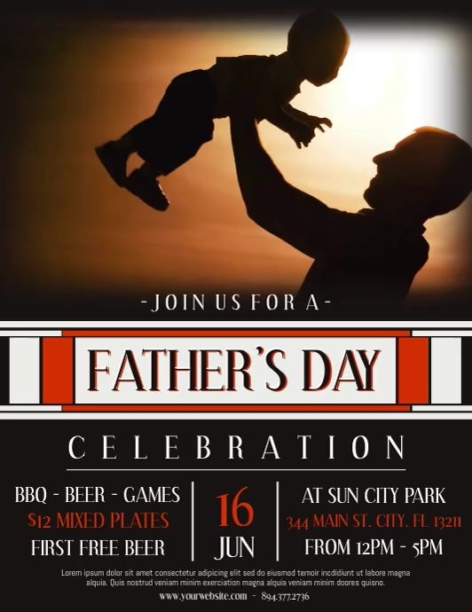 Fathers Day Flyer (Letter pang-US) template
