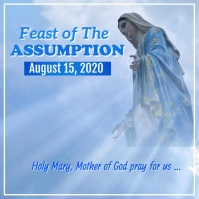 Feast of the Assumption Video Isikwele (1:1) template