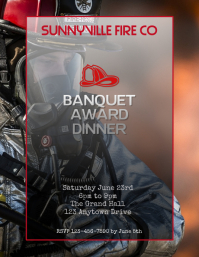 Copy of fireman banquet awards dinner flyer