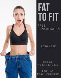 fitness Pamflet (Letter AS) template