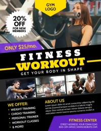 FITNESS Flyer (Letter pang-US) template