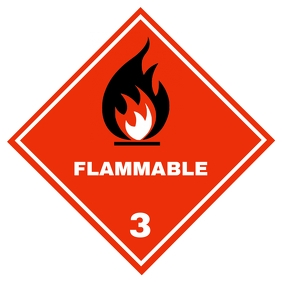Copy of Flammable sign 3