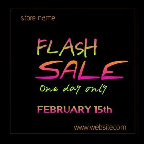 Flash Sale Digital Ad Kwadrat (1:1) template