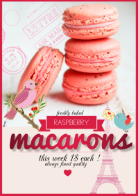 Copy of flyer poster raspberry macarons