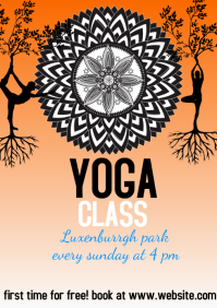 flyer template yoga A4