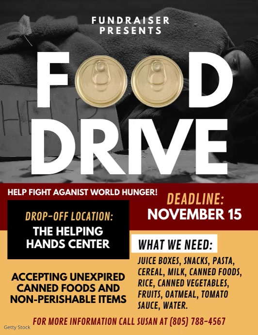 Food Drive Flyer (Letter pang-US) template
