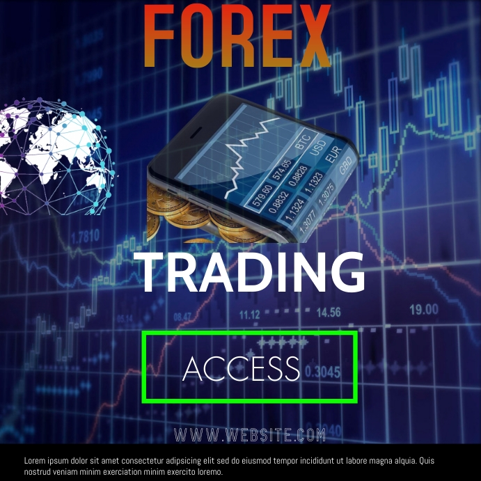 forex trading Instagram-opslag template