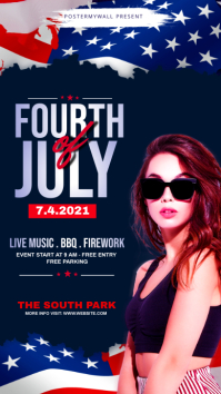 fourth of July Celebration ads Instagram 故事 template