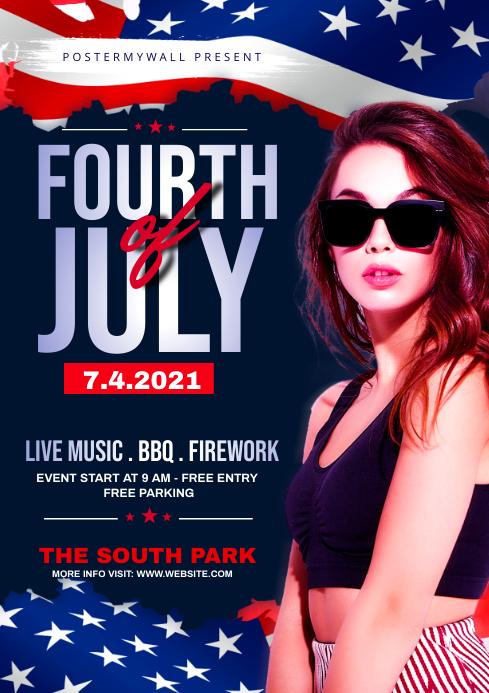 fourth of July Celebration ads A4 template