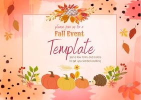 Fall Event Template Postkort