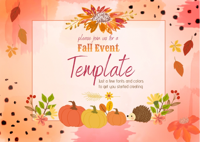 Fall Event Template Postal