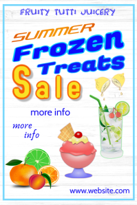 Frozen Treats Sale Poster template