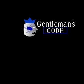 Gentleman code Logo template