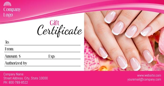 Gift Certificate Facebook 共享图片 template