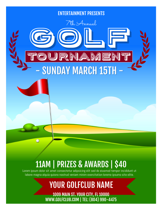 Golf Flyer (Letter pang-US) template