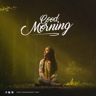 Good Morning Video Instagram Post 专辑封面 template