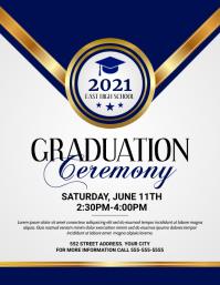 Graduation Ceremony Flyer (US-Letter) template
