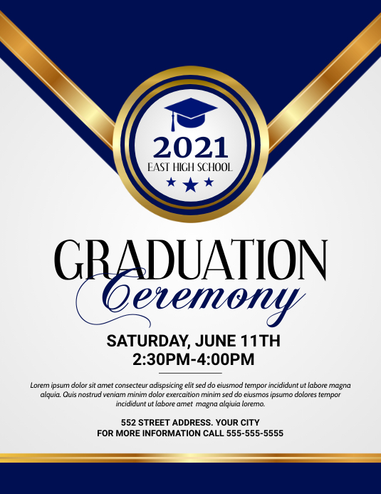 Graduation Ceremony 传单(美国信函) template