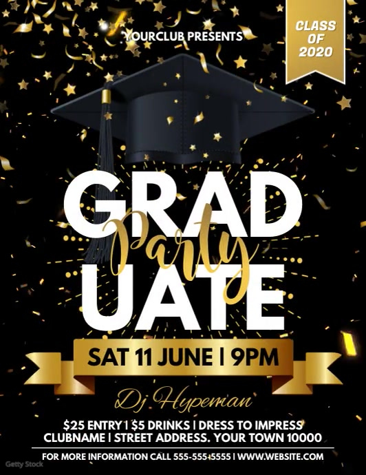 GRADUATION Ulotka (US Letter) template