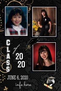 Graduation Photo Announcement Affiche template