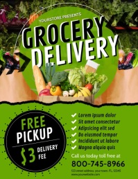 GROCERY DELIVERY Flyer (US Letter) template