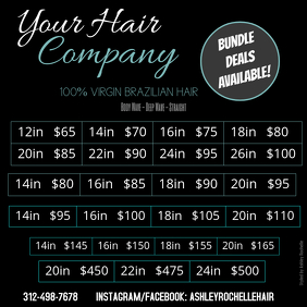 Copy of Hair Price List