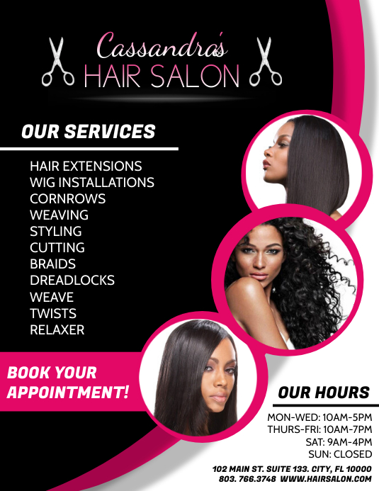 Hair Salon Iflaya (Incwadi ye-US) template