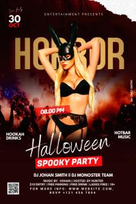Halloween Ad Banner 4' × 6' template