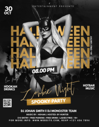 Halloween Ad Flyer (US Letter) template