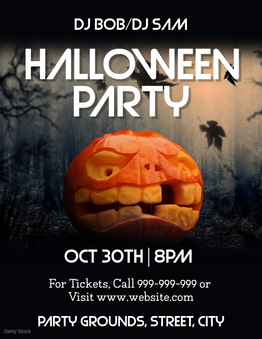 Halloween Party Pamflet (VSA Brief) template