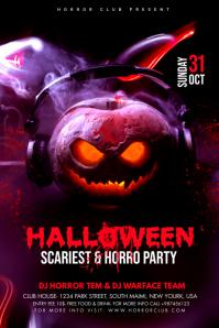 Halloween Party Flyer Баннер 4' × 6' template