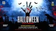 Halloween Party Flyer Видеообложка профиля Facebook (16:9) template